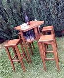 Barski masi  stolovi i lezalki za plaza