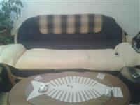 2 Dvosedi Trosed  Fotelja i Tamburetka