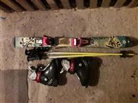 Detski skii cevli kaciga i naocari