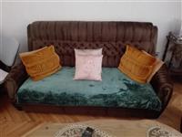 Garnitura za sedenje kamin regal