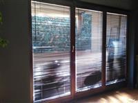 Drvena vrata so termopan staklo