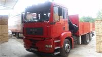 MAN 410 so kran 6.500 t prateca vrsime prevoz stok