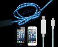 iPhone USB LED KABEL 1M, HIGH QUALITY