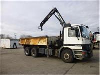 Tipper Trucks MERCEDES 2635 - 6x4 - BiBenne Grue