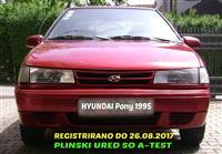 HYUNDAI PONY -95 ATEST PLIN REGISTRIRANO