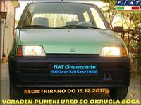 FIAT CINQUECENTO -96 PLIN REGISTRIRANO EVTINO