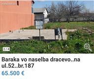 Baraka vo n. Dracevo 655m2