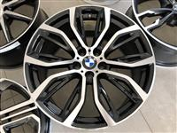 """KOMPLET BANDAZI FELNI FELGI 20"""" + GUMI BMW X5 X6"""