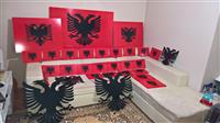 Albansko zname razni dimenzii za na zid
