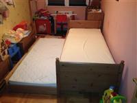 Detski kreveti dva fioka sistem
