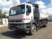 Tipper Trucks RENAULT KERAX 300 BiBenne Grue