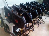 Mining rig 6x ASUS RX470 i 6x XFX RX580 4GB