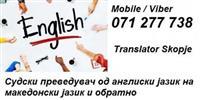 PREVEDUVAC PREVOD ANGLISKI