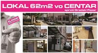 Atraktiven LOKAL od 62 m2 vo CENTAR na Tetovo