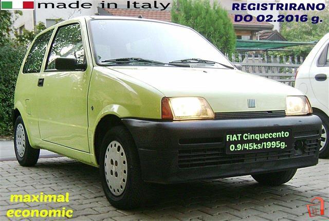 pazar3 mk ad fiat cinquecento reg 95 registrirano ekonomicno for rh pazar3 mk 1956 Fiat 500 2013 Fiat 500