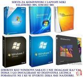 BRISENJE VIRUSI INSTALIRANJE WINDOWS XP VISTA 7 8