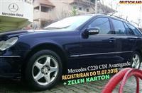 MERCEDES C220 CDI AVANTGARD REG ZELEN KARTON ZAMEN