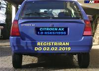 CITROEN AX 1.0 45KS REGISTRIRAN CELA GODINA EVTINO