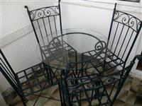 Masi i stolici od kovano zelezo