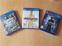 Igri za PS4 GTA V, Uncharted 1, 2, 3, 4