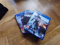 PS4 with 3 cds and new controller