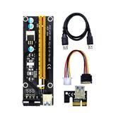 PCI-e Riser Card 1x - 16x SATA to 4Pin IDE Molex