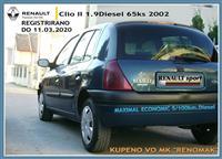 RENAULT CLIO II 1.9DIESEL REGISTR CELA GOD N GUMI