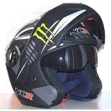 Flip-Up Helmet NCR  Monster Energy Black KACIGA